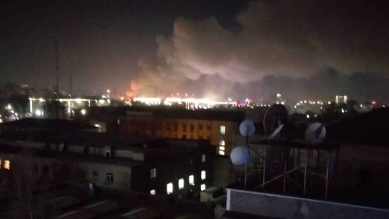 Как горел павильон на Ошском рынке? Видео, фото