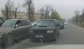 Выезд на встречку на Толстого-Бакаева