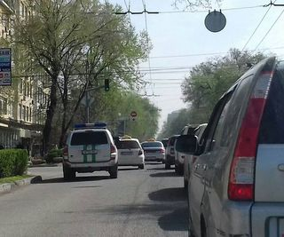Выезд на встречку на ул.Московской