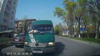Езда по встречке на ул.Боконбаева