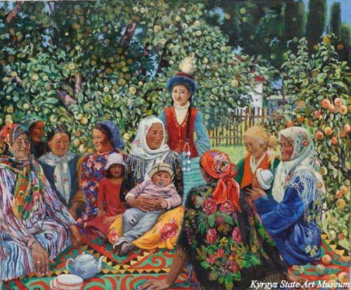 картина чокморова - праздник, 1987